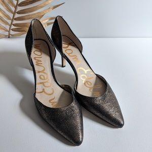 [Sam Edelman] d'Orsay Opal Metallic Kitten Heel